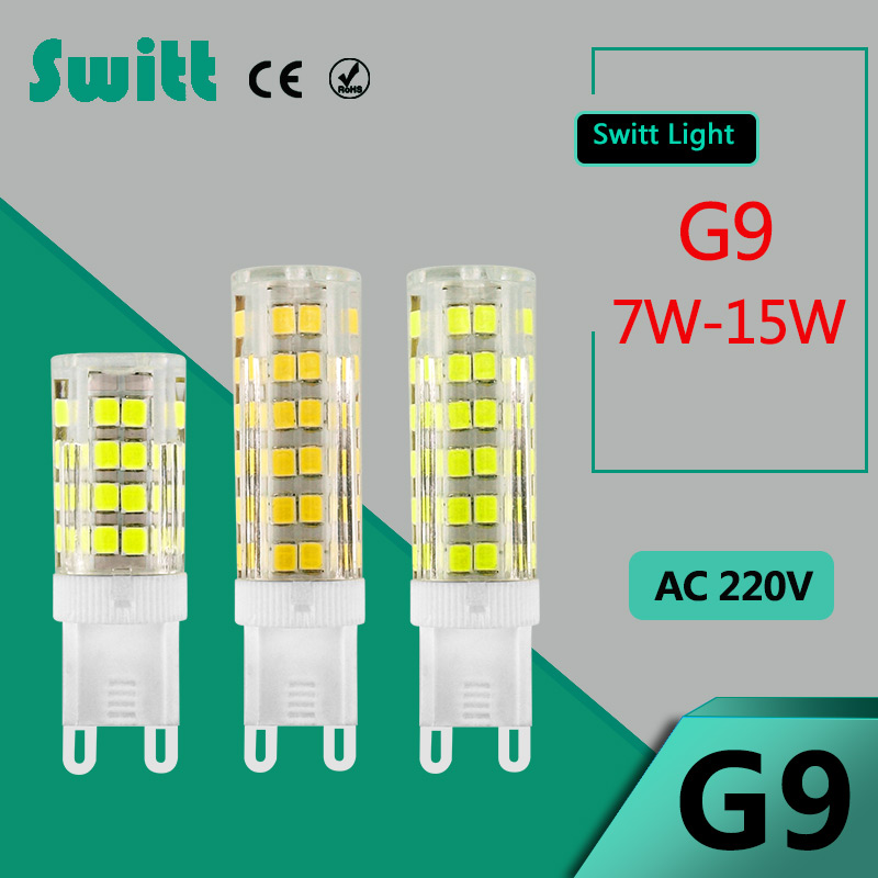 led g9 220v 5w 7w 7w mini led g9 bulb lamp ceramic ceramic crystal high power high. Black Bedroom Furniture Sets. Home Design Ideas