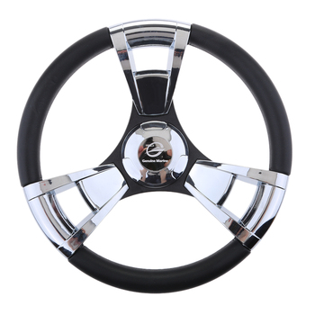 1 Pcs 350mm 3/4'' Tapered Shaft Boat Steering Wheel Non-directional 3 Spokes For Marine Boat Yacht Vessel Etc