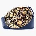 Golden straw pattern belt fashion women's metal gold belt jeans belt arabesque pattern popular punk Decorative strap