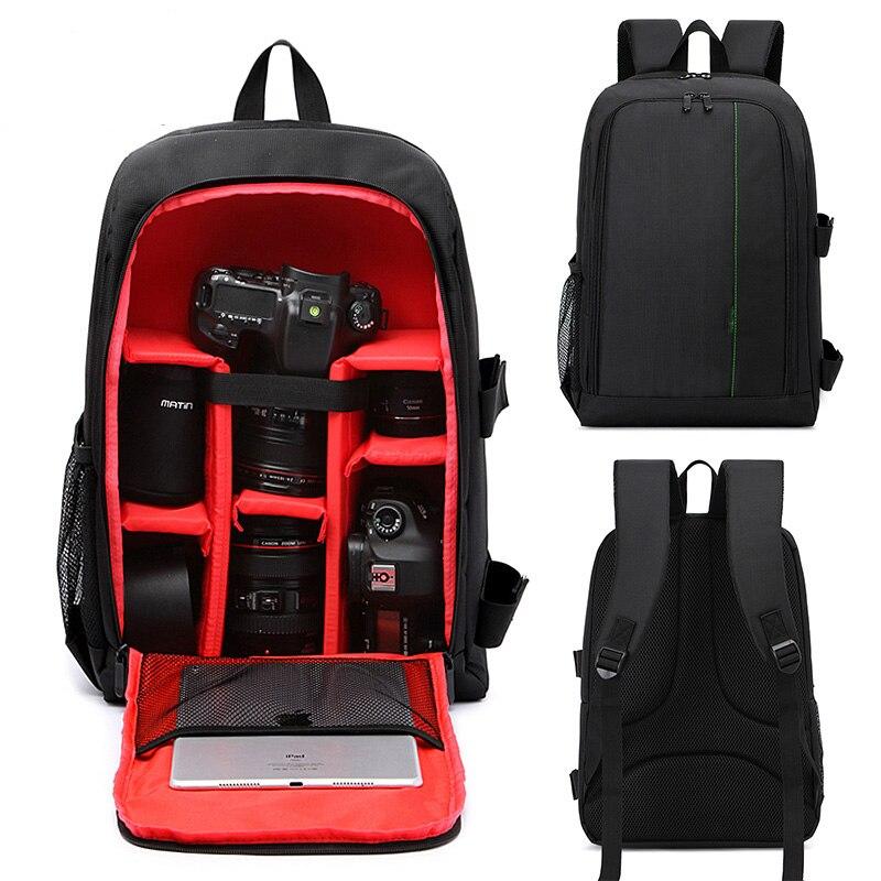 Multi-fonction DSLR appareil photo sac à dos sac pour Canon 5D4 750D 77D sac d'objectif Nikon D7200 D7100 D5300 D3400 D90 Sony A7 II III A9