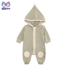 2017 Unisex Baby Rompers Cartoon Animal Clothing Winter Girls Warm Clothes Boys Foot Overalls Newborn Infant Jumpsuit rompers