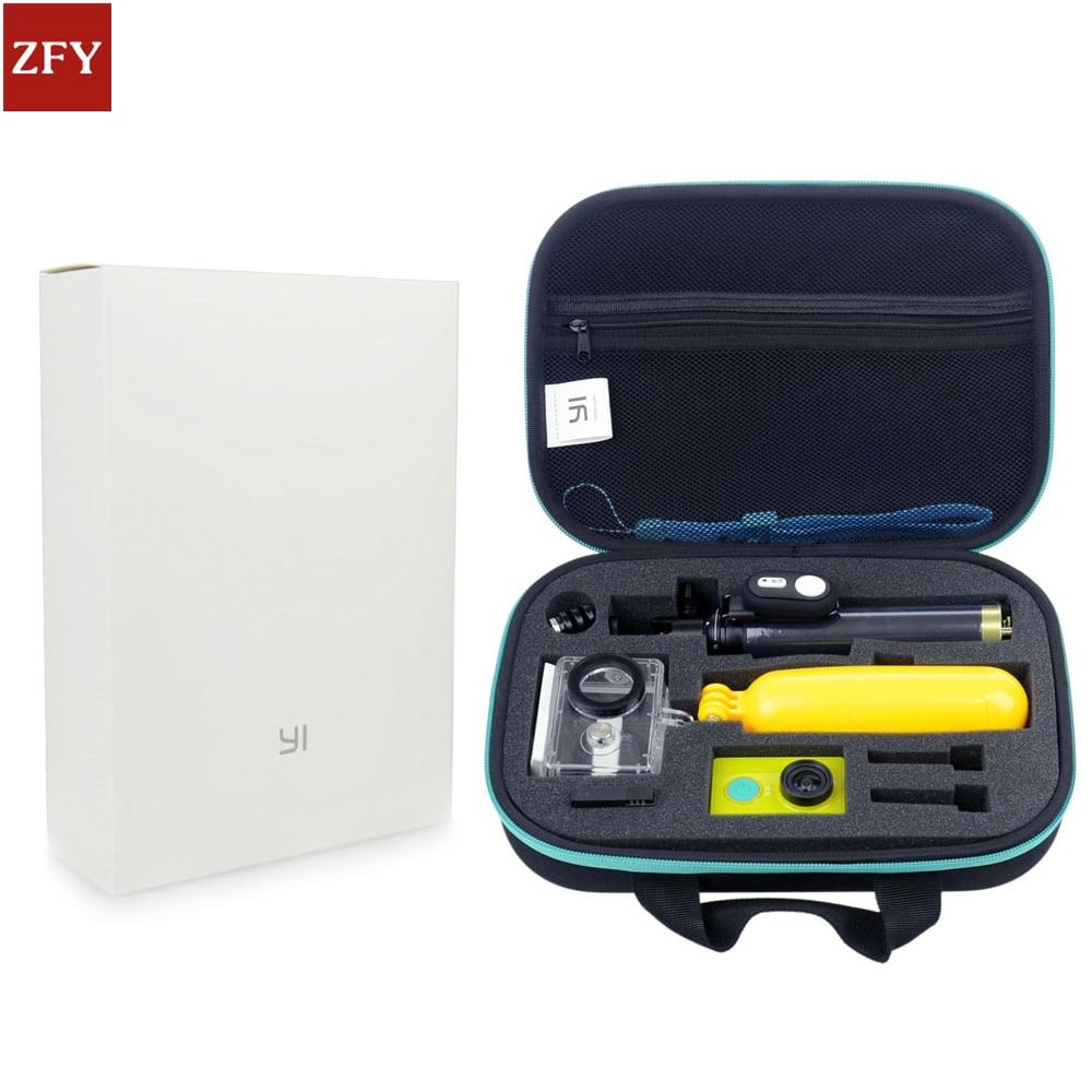 For Xiaomi Yi Accessories Set Waterproof Case Original Bag Case Bluetooth Selfie Monopod Camera Bluetooth Remote