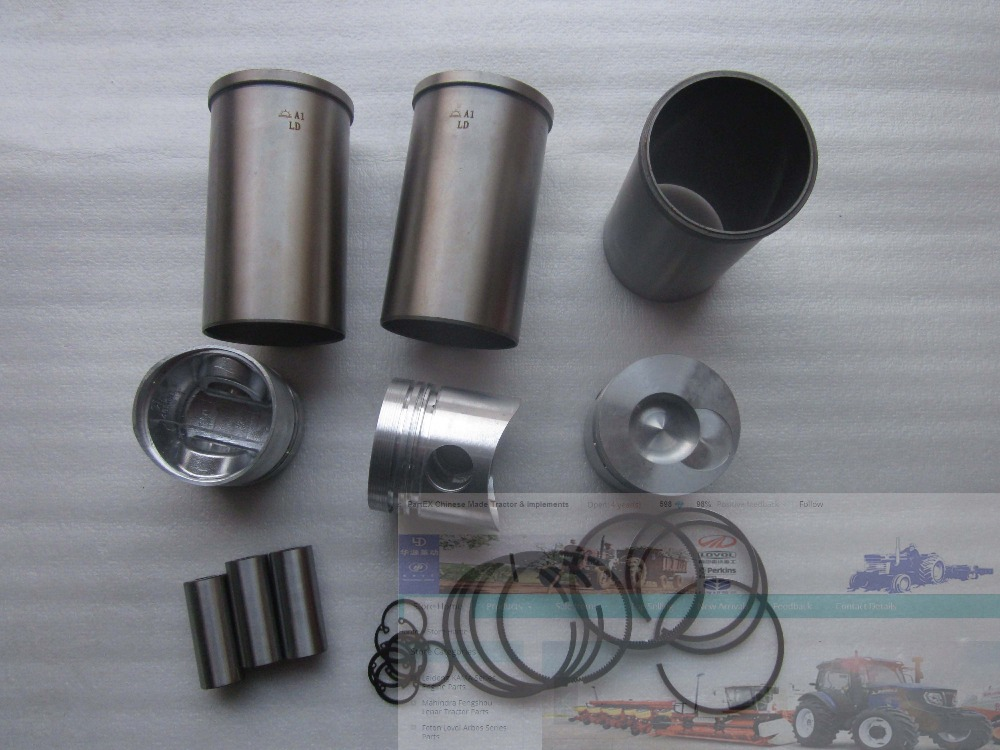 Yangdong direct chamber YD385, the set of pistons, piston rings, cylinder liners and piston pin and circlips fengshou mahindra 254 with il316di direct chamber 385 set of piston piston rings piston pin circlip and cylinder liners