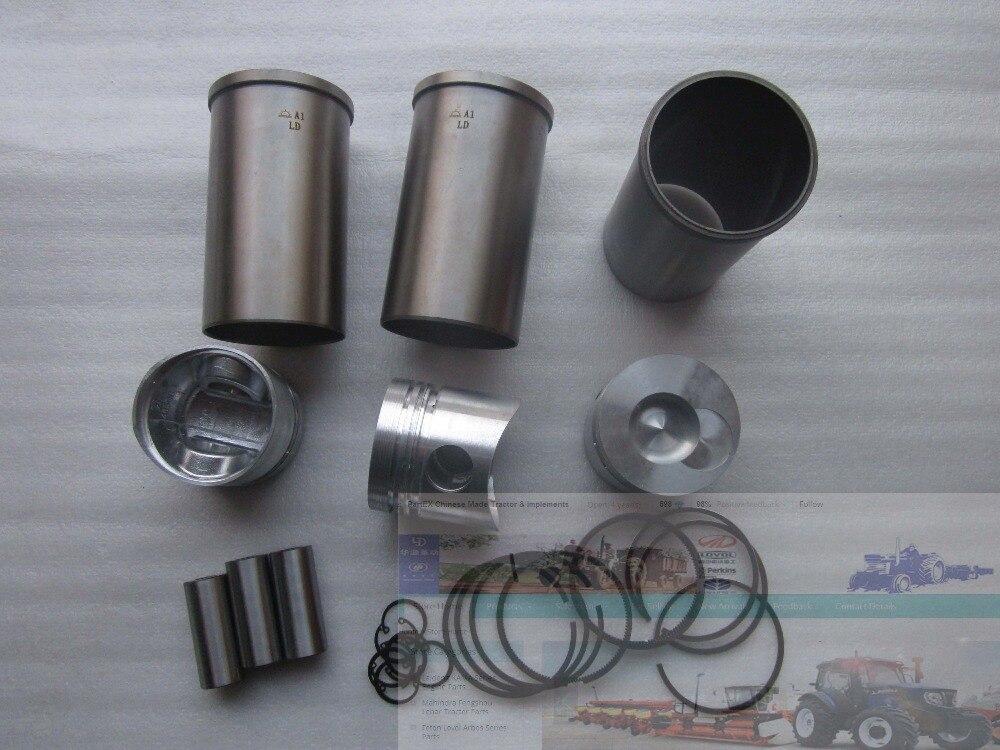 Yangdong direct chambre YD385, lensemble de pistons, segments de piston, chemises de cylindre et goupille de piston et circlipsYangdong direct chambre YD385, lensemble de pistons, segments de piston, chemises de cylindre et goupille de piston et circlips