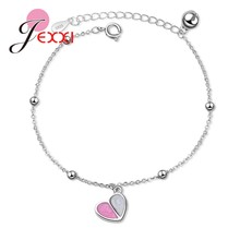 JEXXI New Korean Simple High Quality Fashion Cute Heart 925 Sterling Silver Bracelet For Women Ladies Friends Girlfriend Jewelry(China)