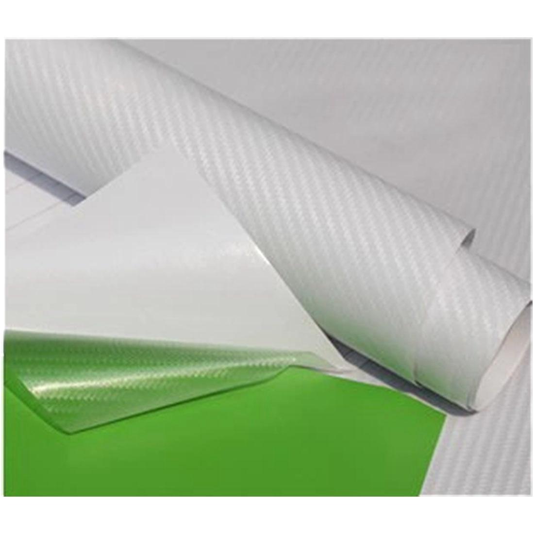 *3D Carbon Fiber Clear Transparent Vinyl Car Wrap Sticker Decal Film Sheet DIY