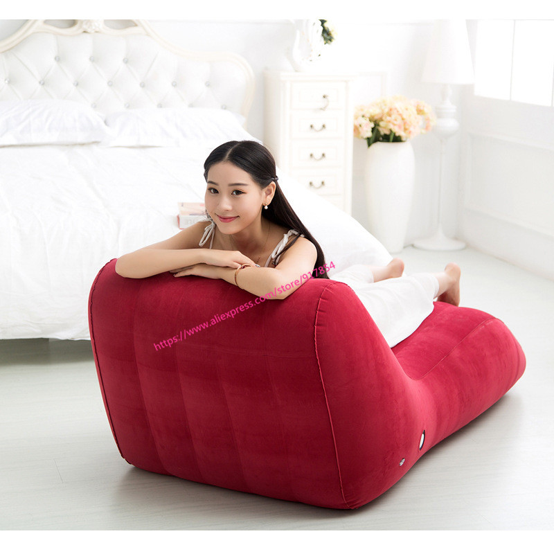 S-type position sex sofa, sex furniture inflatable chair, Love sex chair adult car bed set sex toys for couples. image