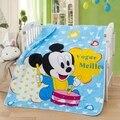 ¡ Promoción! historieta Del Gatito de Mickey juego de cama de bebé recién nacido manta Súper Suave manta del Lecho del bebé producto del bebé, 150*120 cm