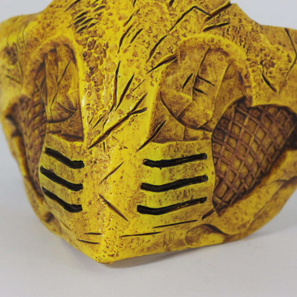 Cosplay Mortal Kombat X Mask Cosplay Scorpion Mask Gold Halloween Mask Prop New
