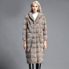 LTGFUR2017 new long fur one dress suit the sable mink fur coat lapel mink fur coat