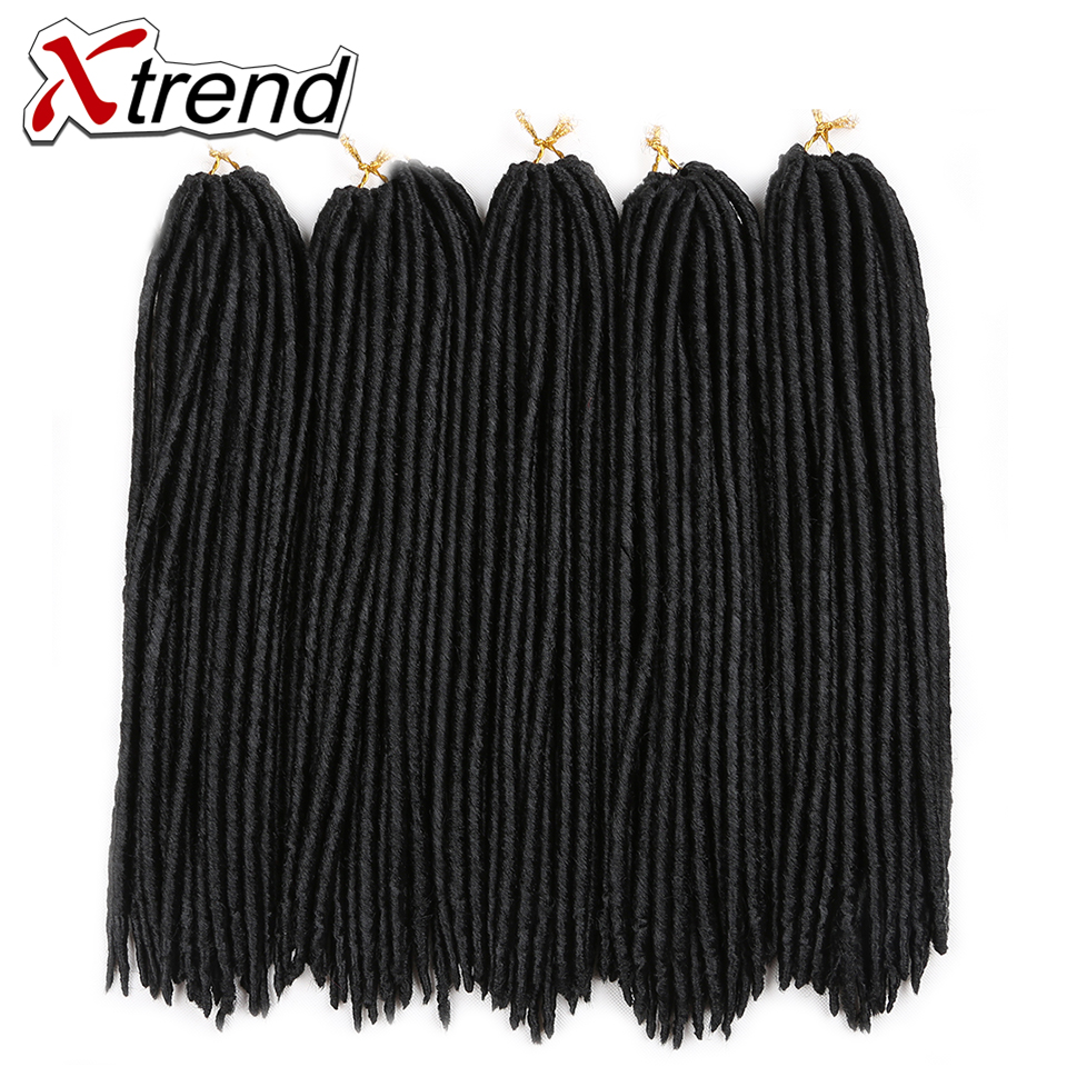 Online Shop Xtrend 18inch 24roots Synthetic Faux Locs Crochet Braid