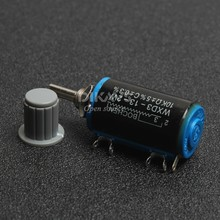 WXD3 13 2W 10K Ohm Rotary Side Multiturn Potentiometer and Knob