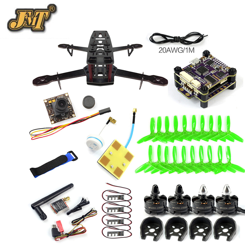 JMT 250 PNP DIY FPV Racing Drone KIT Q250 Frame 2300KV Motor 5 inch Prop Raptor S-Tower 30A ESC 700TVL Camera TS5828 Transmitter diy fpv drone racer 250 arf racing quadrocopter raptor s tower f3 fc built in 5 8g transmitter osd flysky fs i6 with hd camera
