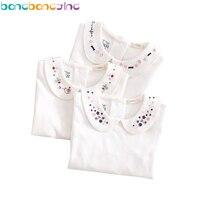 2016 Cotton Girls T Shirts Long Sleeve Good Quality Kids T Shirts White T Shirt For