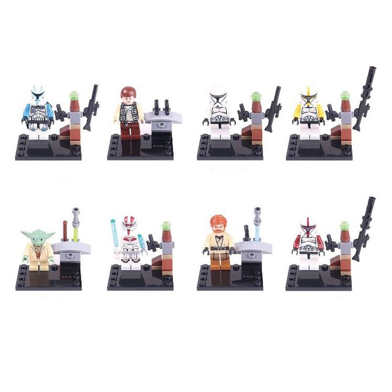 8pcs legoeINGly zvijezda ratova snagu buđenje mini građevinski - Izgradnja igračke - Foto 3