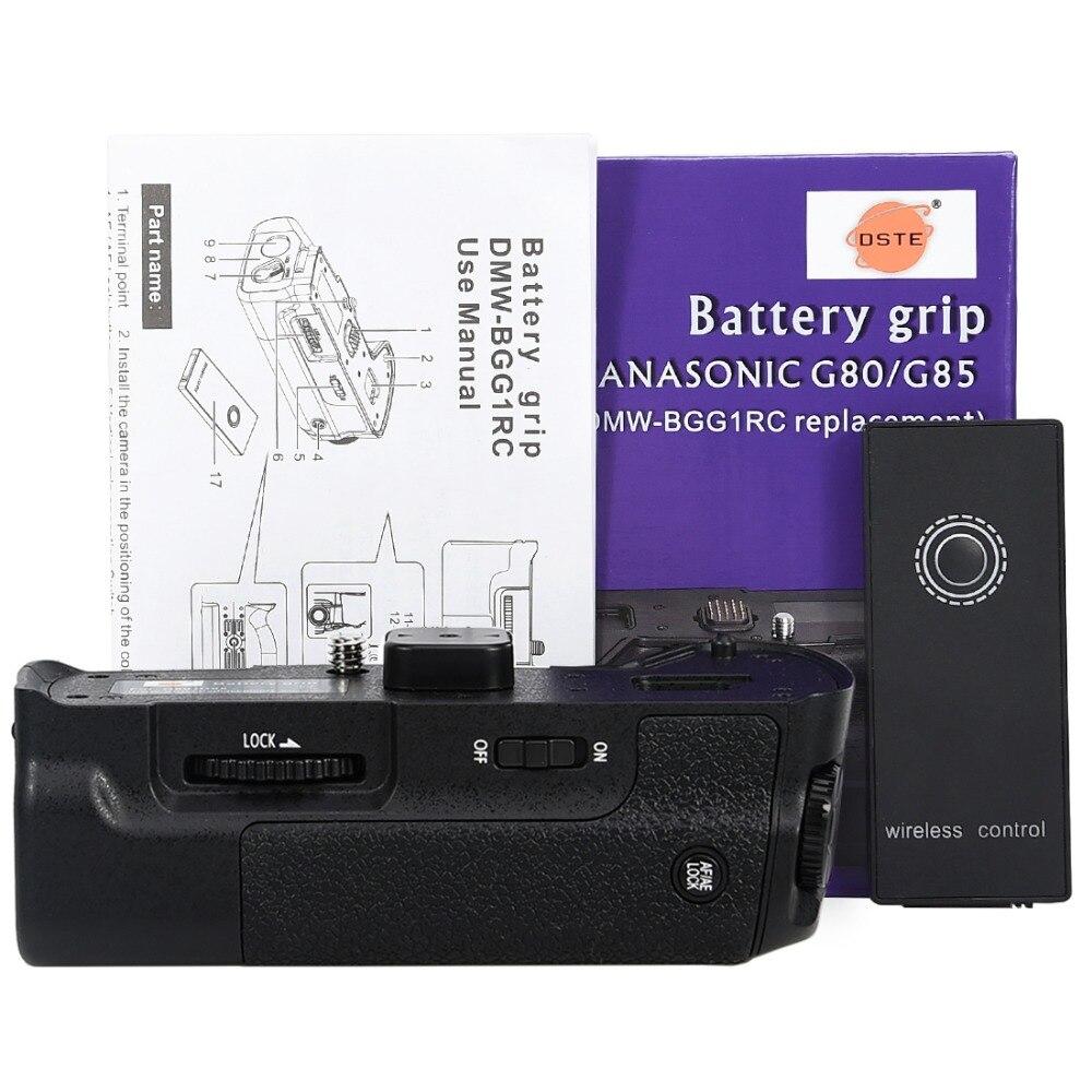 DSTE Pro DMW-BGG1 вертикальный Батарейная ручка для Panasonic LUMIX DMC-G80 G85 DSLR камеры оборудованы с беспроводным 2,4 ГГц дистанционным пультом управления