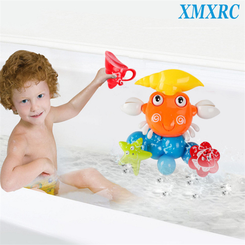XMXRC.Baby Funny Water Game Bath Toy Gift Cute Crab Rotating Starfish and Fish Summer Children Bathing Toys for In The Bathroom