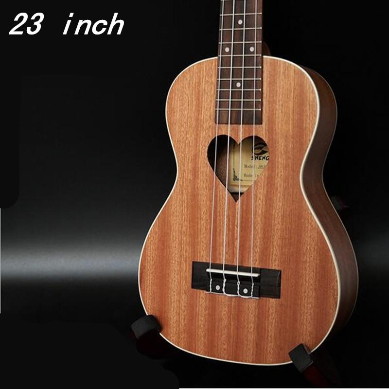 23 pouces palissandre touche ukulélé quatre cordes Aquila 17 Fret hawaïen ukelele Chibson guitare acoustique motif coeur