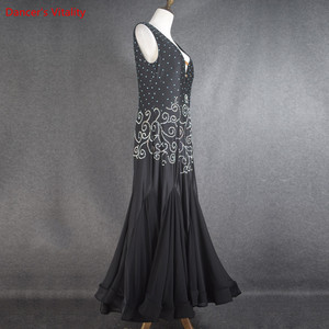 Image 5 - סלוניים ריקוד שמלת V צווארון חזרה פתיחת הצעה מיוחדת נשים לטיני ריקוד תלבושות סלסה סמבה טנגו תחרות תלבושות שמלה