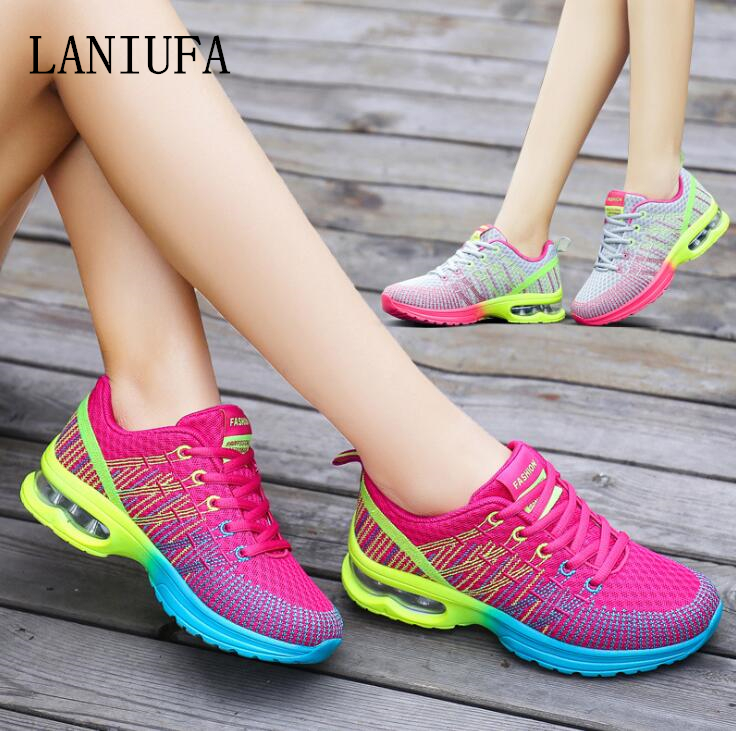 girls Informal Consolation Trainers Sneakers new Spring girls Lace-Up Breathable Mesh Sole Gentle Out of doors Strolling operating Sneakers mujer #157 Ladies's Flats, Low-cost Ladies's Flats, girls Informal Consolation...