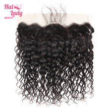 Halo Lady Beauty cabello humano brasileño prearrancado con onda de encaje Frontal, cabello Natural, 13x4, no Remy
