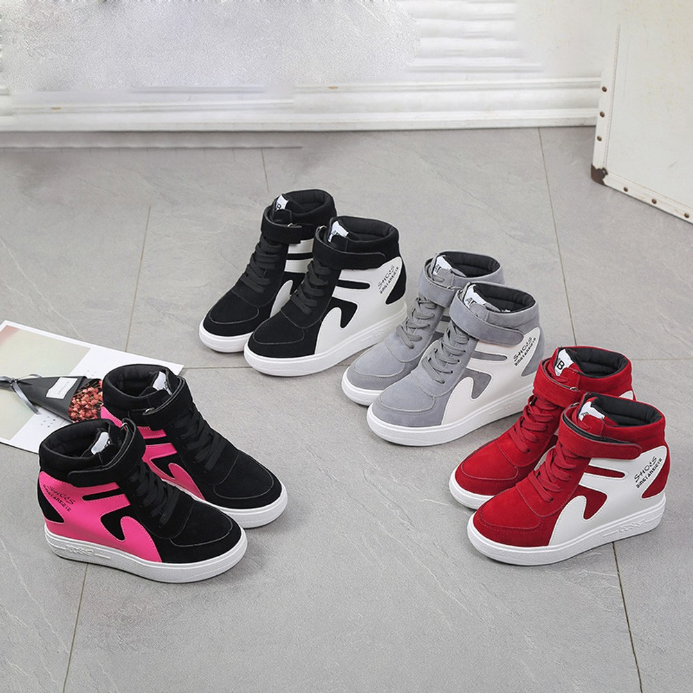 Womens Shoes Platform Sneakers Tenis Feminino Flat Black Shoes Woman Zapatillas Mujer Casual Sapato Feminino High Quality Shoes 1