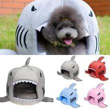 2017 2 Tamaño Productos Para Mascotas Dog House Pet Caliente Suave Para Dormir bolsa de Tiburón Perrera Cama Del Gato de Casa cama perro Cachorro casa