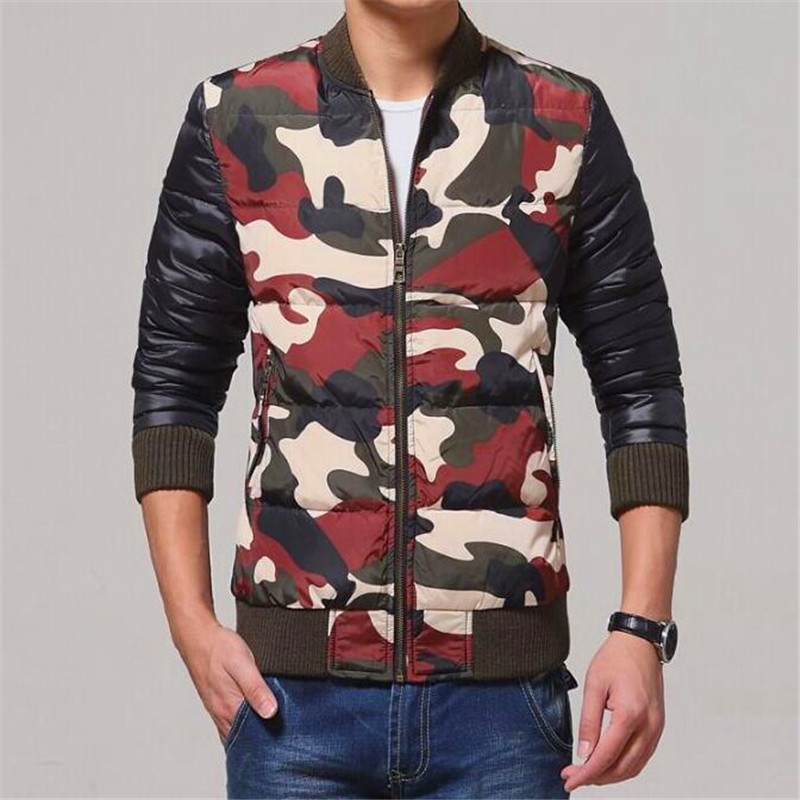 Free Shipping New 2017 Men Casual Camouflage Jacket And Coats Brand Design Winter Snow Warm Parkas Slim Fit Down Wadded Coats free shipping winter parkas men jacket new 2017 thick warm loose brand original male plus size m 5xl coats 80hfx