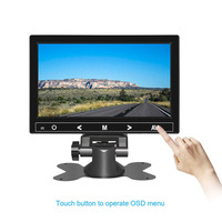 7 800x480 Button Touch LCD Mini Monitor Computer TV with HDMI VGA Video Audio Input for Home security Display/CCTV Car Rearvie