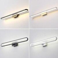Modern Led Mirror Light Wall Lamp Bathroom AC 90 265V Stainless steel Waterproof Led Wall Light fixture Vanity Light