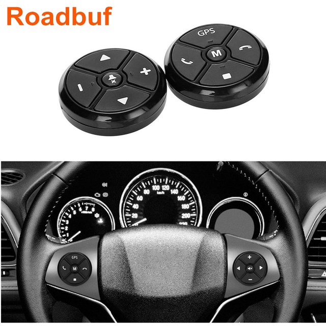 Universal Car Steering Wheel Remote Control Key Music Wireless DVD GPS Navigation Radio Control Buttons Black