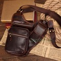 Men's Genuine Leather Travel Motorcycle Riding Cross Body Messenger Shoulder Fanny Pack Waist Thigh Drop Leg Bag