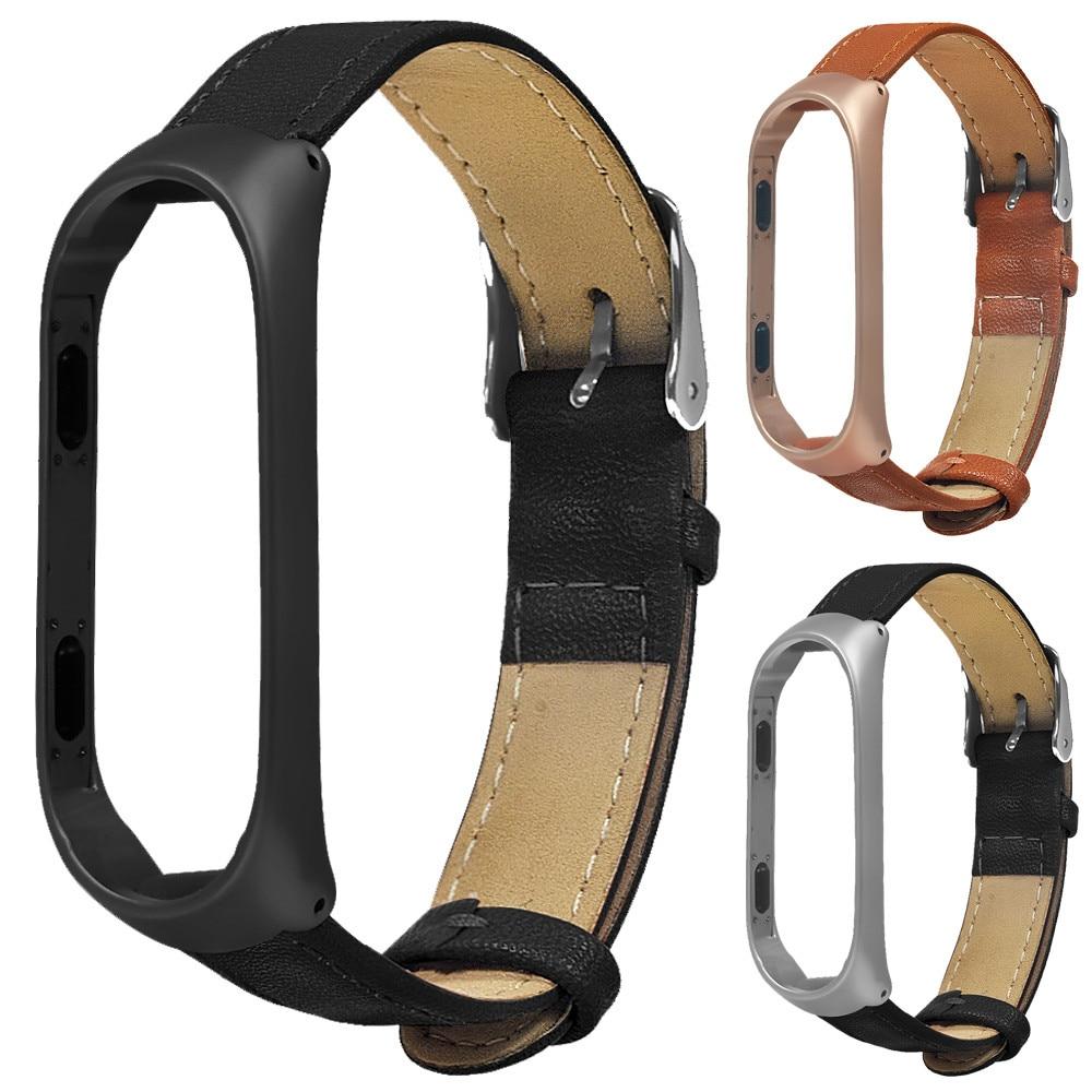 Watchband Leather Watch Strap For Xiaomi Miband 3 Business Lightweight Smart Wrist Watch Band Strap For Xiaomi Miband 3