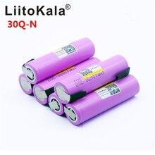 6 pièces Litokala Original 18650 3000mah batterie INR18650 30Q 20A décharge Li ion batterie Rechargeable pour + bricolage nickel