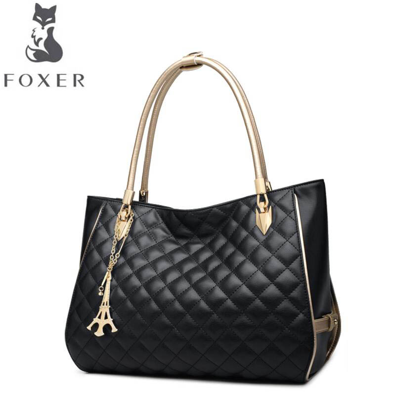 free delivery Cow leather handbag FOXER Women's handbag 2017 autumn new fashion Messenger bag Leather shoulder bag cow leather handbag free delivery new leather women bag retro shoulder messenger bag leisure bucket bag