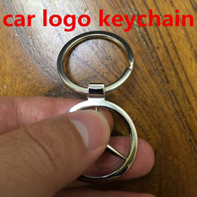 3D Metal Car Logo Keychain For KIA NISSAN PEUGEOT OPEL Sales Promotion Gift Keyring Key Chain Ring Fob Baby520(China)