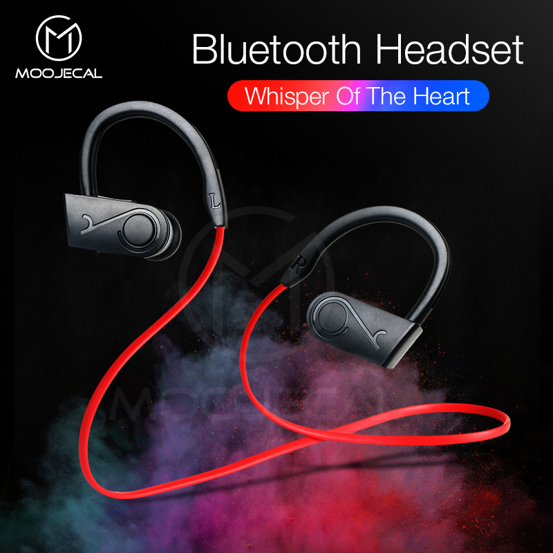все цены на MOOJECAL Sport Bluetooth Earphone Stereo Wireless Headphones With Microphone bluetooth Headsets Earbuds For Phone kulakl xiaomi