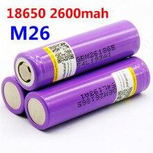 LiitoKala 2PCS 100% original for LG M26 18650 10A 18650 li-ion rechargeable 2600 mah power battery backup for ecig / scooter