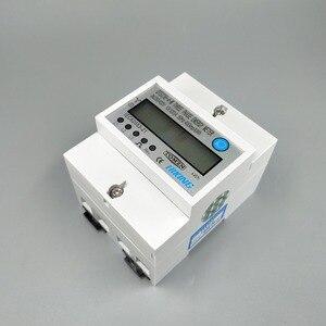 4P 10 (100) трехфазный din-рейка кВтч Ватт час din-рейка счетчик энергии LCD 3*230/400V 3*120/208V 3*220/380V 2*120/208V 50Hz 60 Гц