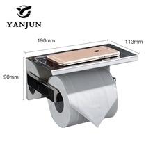New Style Multi-function Bathroom Shelves  Single Roll Toilet Paper Holders Bathroom Accessories