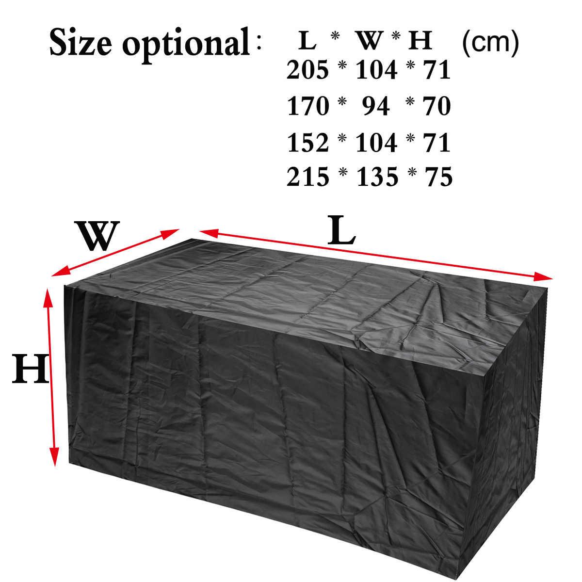4 حجم أثاث للحدائق الخارجية غطاء للمطر للماء أكسفورد الخوص أريكة حماية مجموعة حديقة الفناء المطر الثلج الغبار يغطي