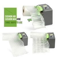 Air Cushion Packaging Machine Buffer Bubble Bag Inflator Film Buffer Inflatable AirBag Machine Air Pillow Maker High Speed