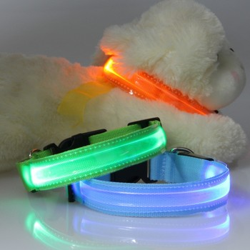 Nylon Band Transparent LED Flashing Arm Band Wrist Strap Armband for Outdoor Night Activity Safety Party
