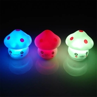 New Cute LED Mushroom Lamp 6 5cm Color Changing Party Lights Mini Soft Baby Child Sleeping