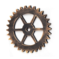 Retro Industrial Wind 14cm Mini Gear Ornament Strap Creative Furniture Wood Wall Mural Decoration Creative Home