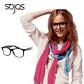 Claras Óculos Vintage Retro Estilo Moderno Quadrado Olho Óculos Unissex Óculos de Armação De Plástico Óptico Oculos de grau Femininos Masculinos