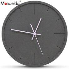 Mandelda Wall Clock 12 Inch With Second Hand  Wanduhr Watches Reloj De Pared Decorativo Classic Wood Clocks