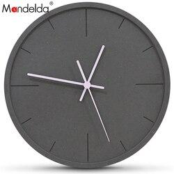 Mandelda zegar ścienny 12 Cal z drugiej ręki Wanduhr ściany zegarki ścienne Reloj De Pared Decorativo wyposażone są w klasyczne drewniane zegary ścienne