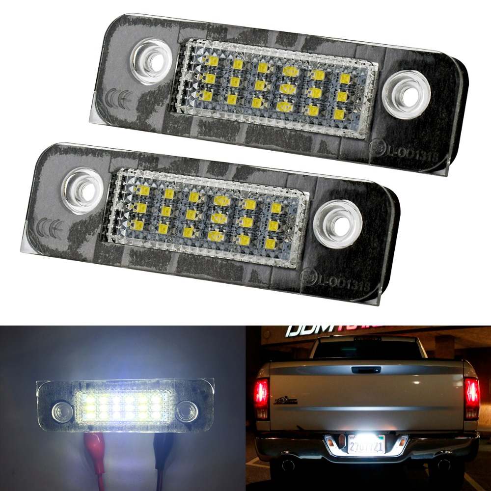 2pcs Car Led Number License Plate Light 12V For Ford fiesta mondeo MK2 Fusion Rear Trunk Warning Lights Car Tuning Accessories