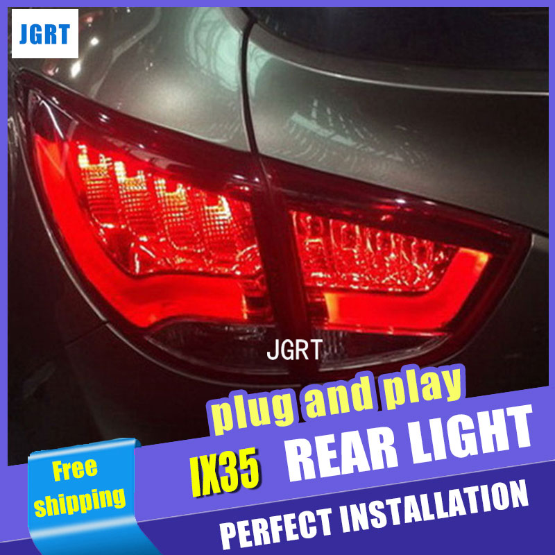 A&T Car Styling for Hyundai IX35 Taillights 2010-2013 New Tuscon LED Tail Light Rear Lamp DRL+Brake+Park+Signal